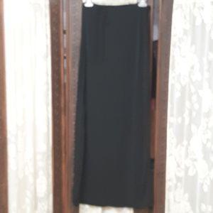 Banana Republic Skirts - Banana Republic Black Wrap A Round Maxi Skirt